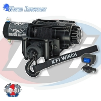 KFI Stealth Series 2500lbs Winch - Synthetic Cable
