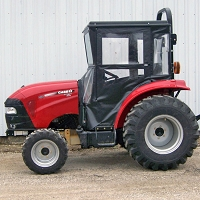 Standard Cab with Hinged Doors for Case IH Farmall 30C-50C Tractors