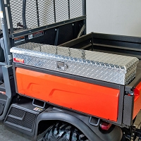 Side Mount Tool Box for the Kubota RTV-X900, RTV-X1100, RTV-X1120 - Diamond Plate Aluminum
