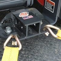 Rear Receiver Hitch with Built-In Tie Downs for Kubota BX Series Tractors