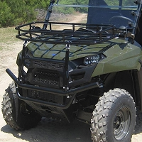 Hood Rack & Brush Guard for the Polaris Ranger 400