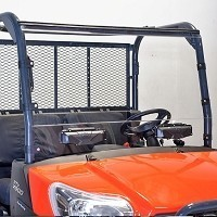 UV RESISTANT STANDARD COATED VENTED POLYCARBONATE WINDSHIELD FOR KUBOTA RTV X-SERIES