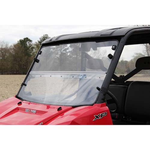 Versa-Fold Hard Polycarbonate Windshield for Polaris Full Size Pro-Fit Rangers