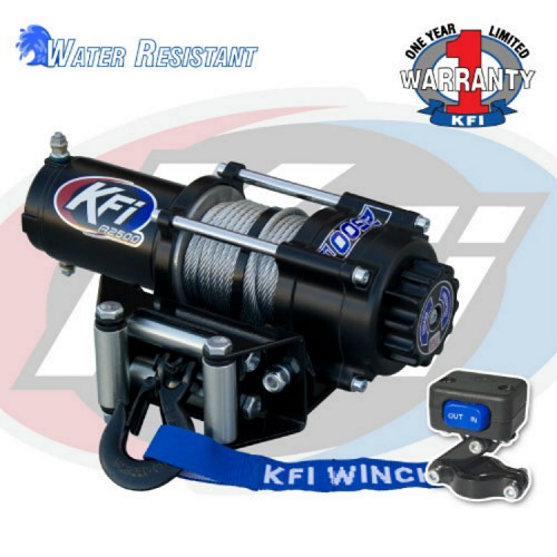 2500lbs UTV Winch - Steel Cable