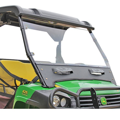 Versa-Vent Uncoated Polycarbonate & ABS Windshield for John Deere Gator Full Size XUV & HPX